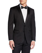 BOSS Men's Halven Gentry Satin Lapel Wool Two-Piece