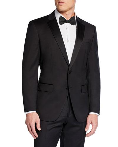 Men's Halven Gentry Satin Lapel Wool Two-Piece Tuxedo