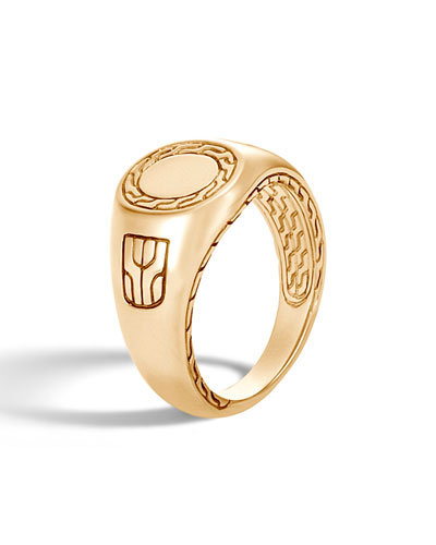 4ed58558afd32c Quick Look. John Hardy · Men's Classic Chain 18K Gold Signet Ring