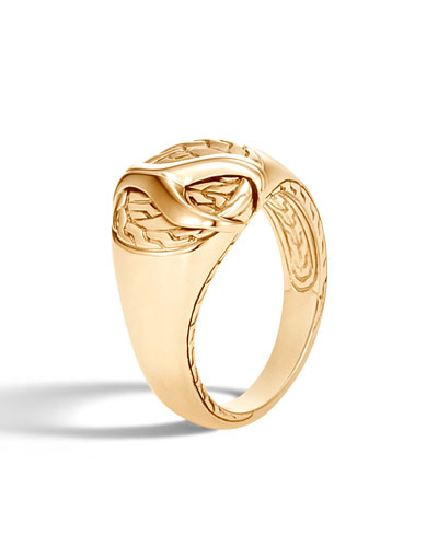 31ab4c6933496a Quick Look. John Hardy · Men's Asli Classic Chain Link 18K Gold Signet Ring