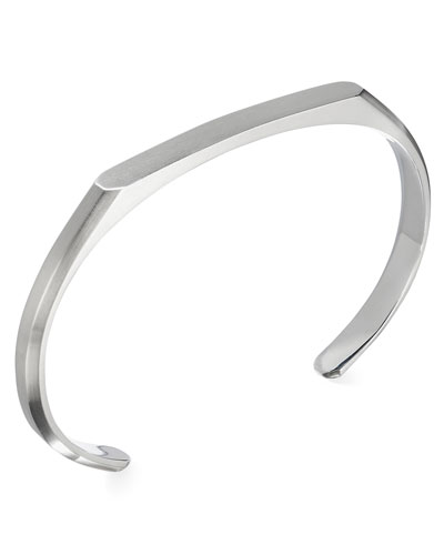 Men's Streamline Heirloom Sterling Silver ID Cuff Bracelet
