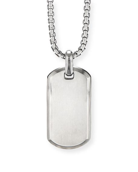 David Yurman Men's Streamline Sterling Silver ID Tag Enhancer