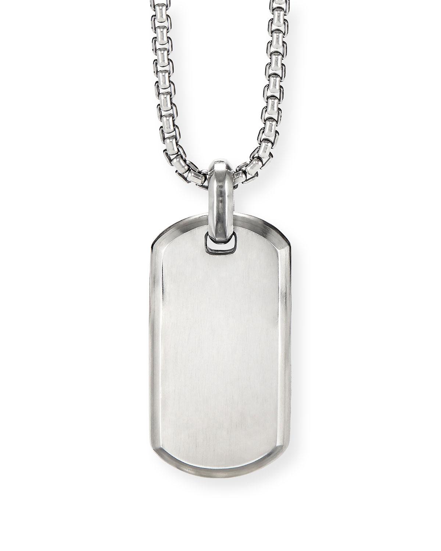 Men's Streamline Sterling Silver ID Tag Enhancer