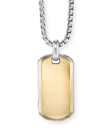 David Yurman Men's Streamline 18k Yellow Gold ID Tag Enhancer
