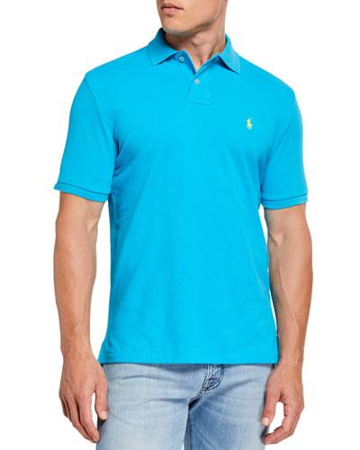 Men's Logo-Embroidered Polo Shirt, Blue