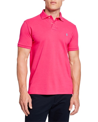 Men's Logo-Embroidered Polo Shirt, Pink