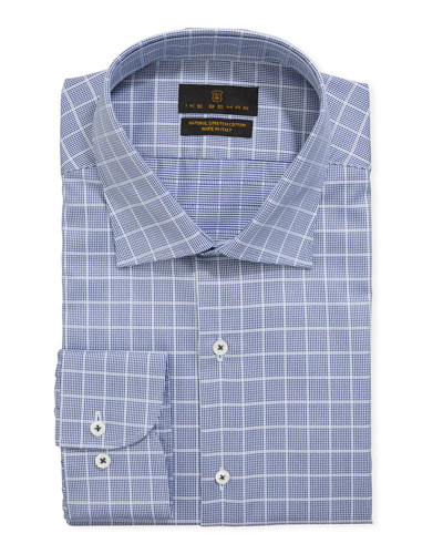 Men's Stretch Cotton Check Dress Shirt