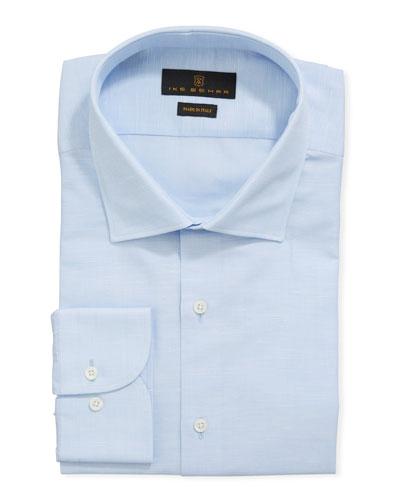 Men's Cotton/Linen Dress Shirt, Blue