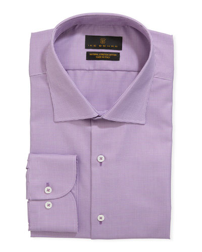 Men's Stretch-Cotton Dress Shirt