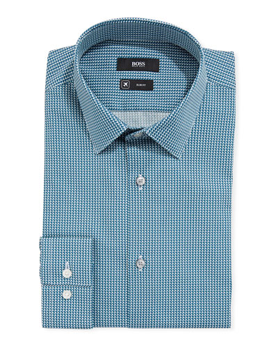 Men's Travel Micro-Diamond Dress Shirt