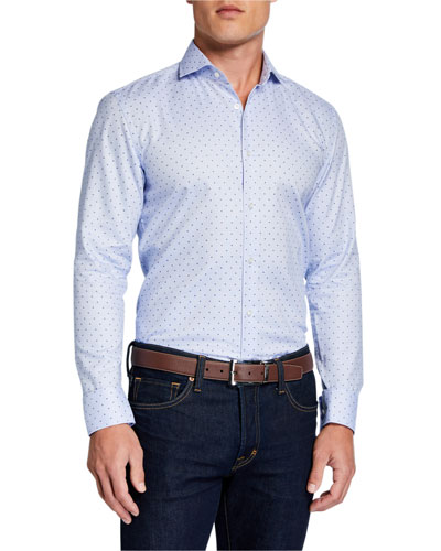 Men's Slim-Fit Travel  Diamond Sport Shirt