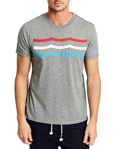 Men's Flag Waves Crewneck T-Shirt