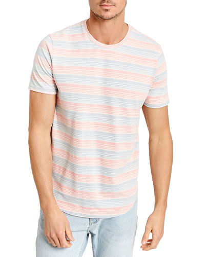 Men's Twill Stripe Crewneck T-Shirt