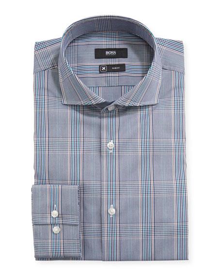 BOSS Men's Slim-Fit Plaid Dress Shirt