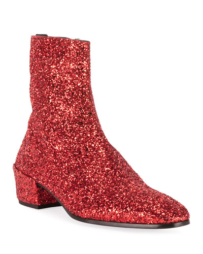 Men's Caleb 40 Glitter Zip Booties