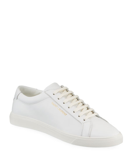 Saint Laurent Men's Andy Low-Top Leather Sneakers