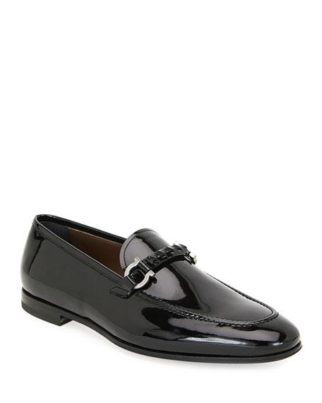 Salvatore Ferragamo Men's Tai Patent Leather Evening Loafers