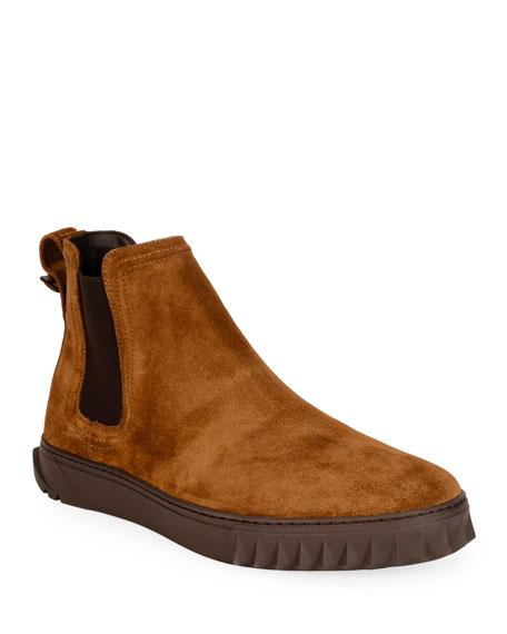 Salvatore Ferragamo Men's Talos Suede Chelsea Boots