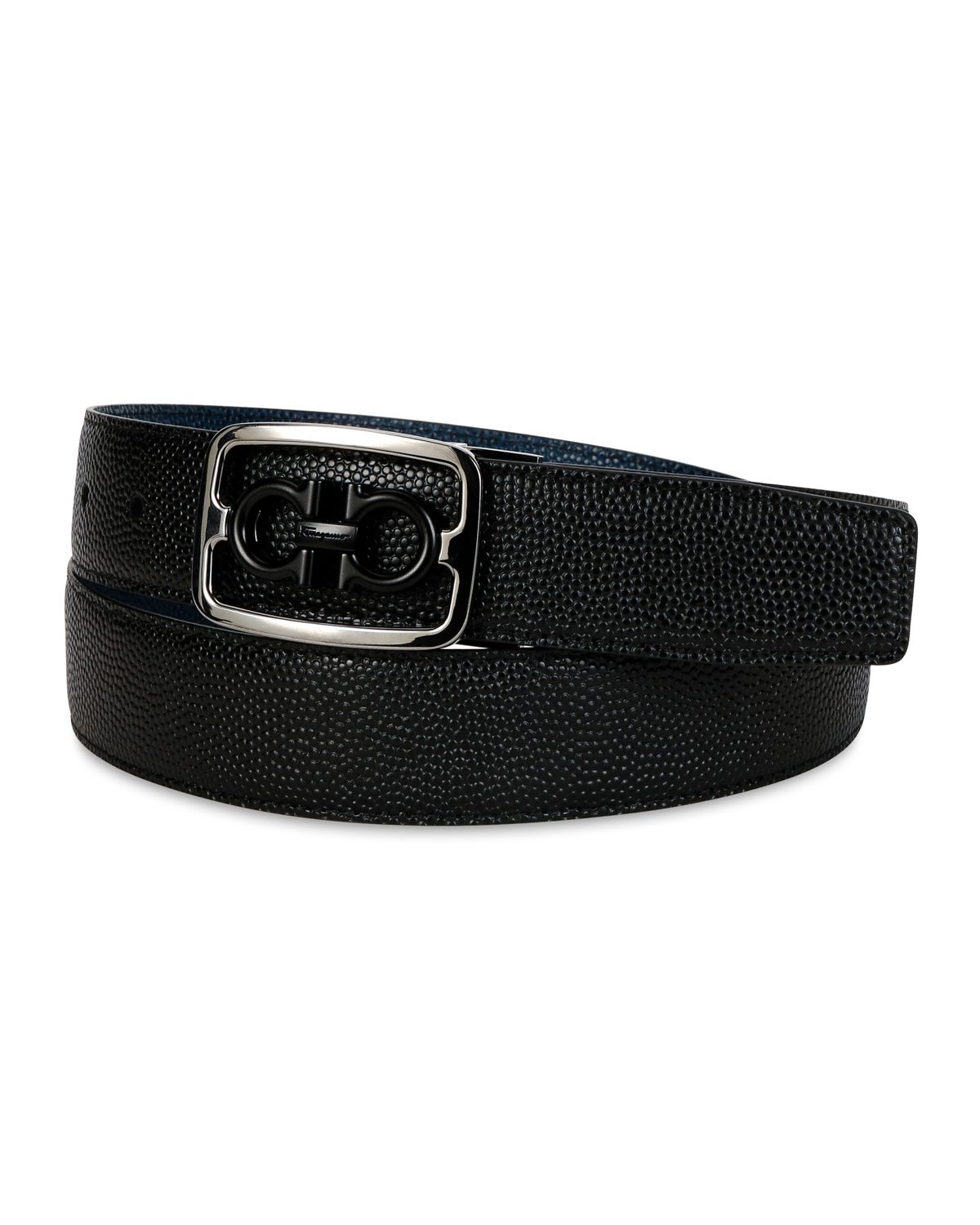 Salvatore Ferragamo  MEN'S REVERSIBLE GANCINI BUCKLE LEATHER BELT