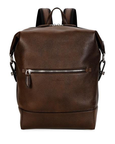 Salvatore Ferragamo Men's Medium Leather Backpack