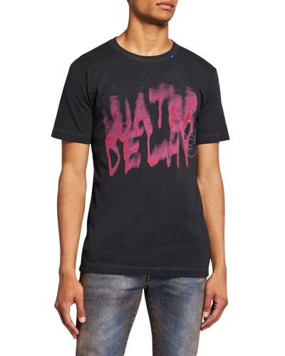 Men's Vintage Graffiti Short-Sleeve Slim T-Shirt