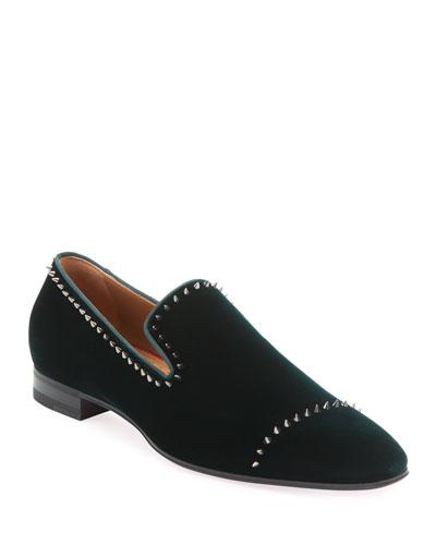 Men's Dandelion Velvet Mini-Spike Loafer