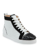 Christian Louboutin Men's Louis Spikes 2 Leather High-Top