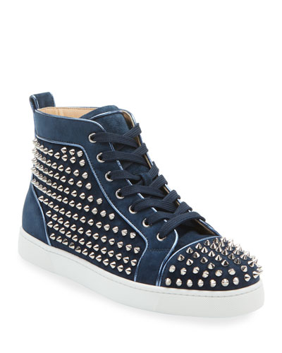Men's Louis Orlato Spiked Suede Sneakers