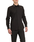 Givenchy Men's Branded Collar Sport Shirt