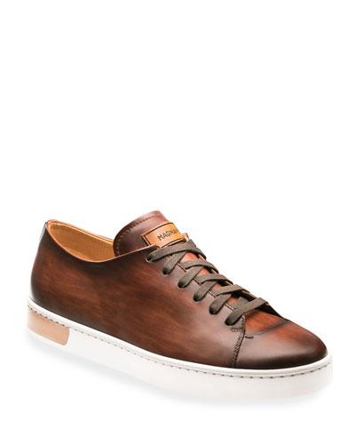 Men's Bates Leather Low-Top Sneakers