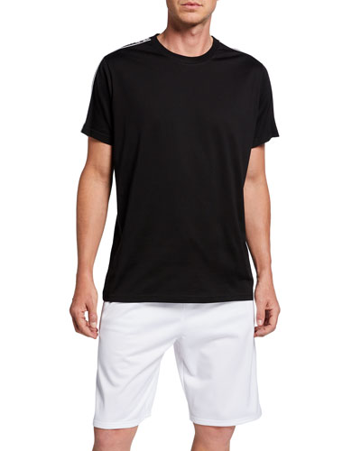 Men's Regular-Fit T-Shirt with Logo Bands