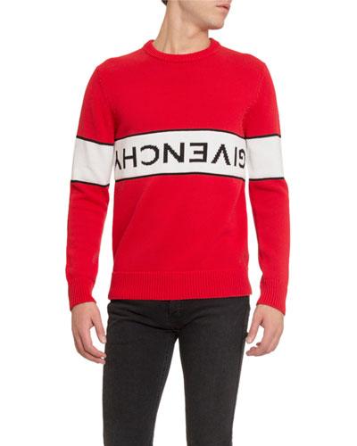 Men's Upside Down-Logo Sweater