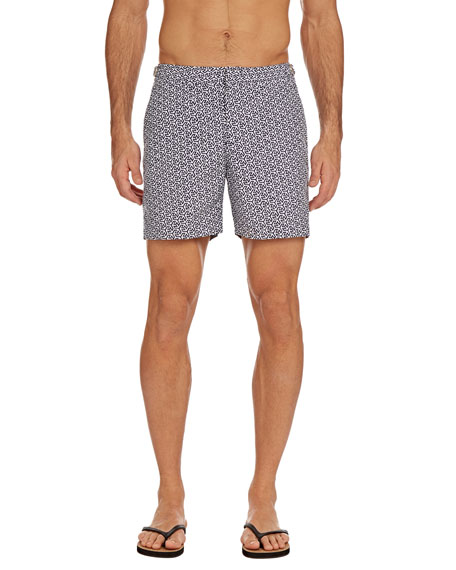 Orlebar Brown Men's Bulldog Mira Swim Trunks, Navy