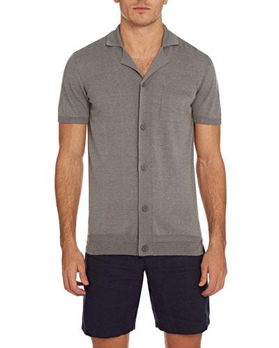 Men's Colman Cotton/Silk Button-Down Shirt