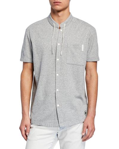 Men's x Club Nomade Drawstring-Collar Shirt