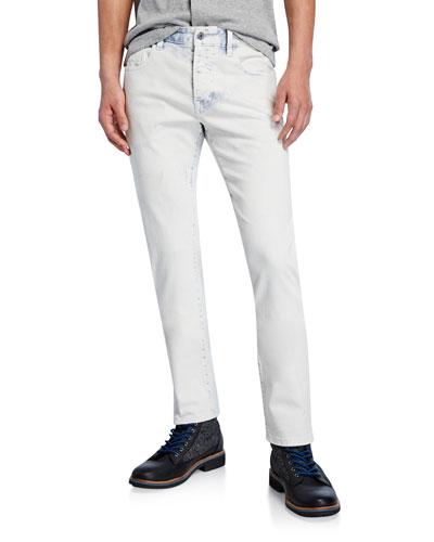 Men's Ralston Acid-Wash Slim-Straight Jeans