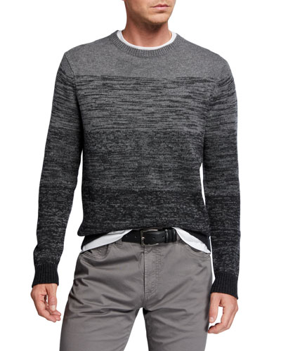 Men's 5-Panel Ombre Wool-Cashmere Sweater