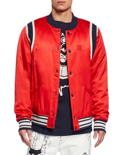 Men's Popeye's 90th Anniversary Brutus Graphic Bomber Jacket