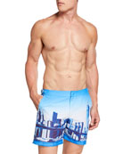 Orlebar Brown Men's Bulldog NYC Skyline Swim Trunks