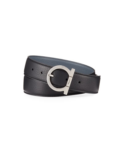 Men's Double-Adjustable Leather Belt