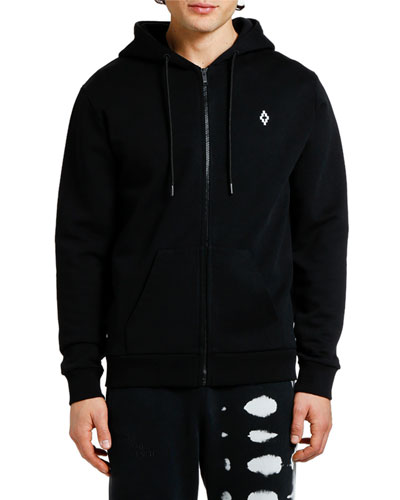 Men's Heart Wings Zip-Front Hoodie