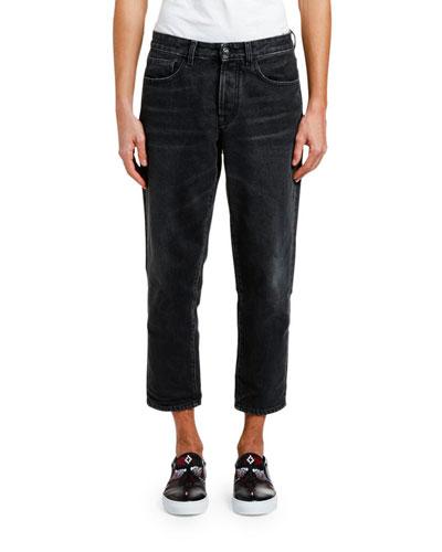 Men's Vintage-Wash Carrot Jeans