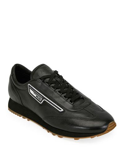 Men's Nappa Sport Leather Runner Sneaker
