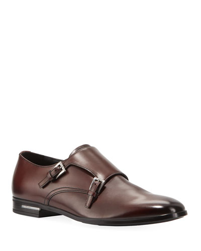 Men's Fondo Gomma Leather Double-Monk Shoe