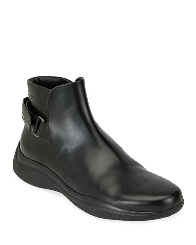 Men's Spazzolato Leather Combat Boots