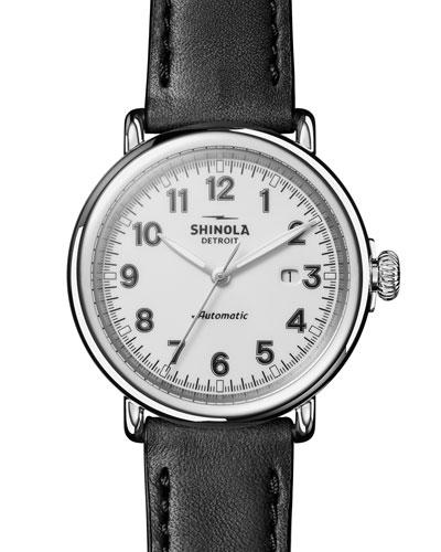 Men's 45mm Runwell Automatic Watch, Black