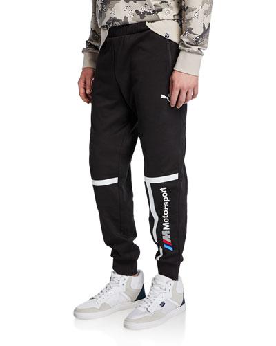 Men's BMW MMS Striped Logo Sweatpants