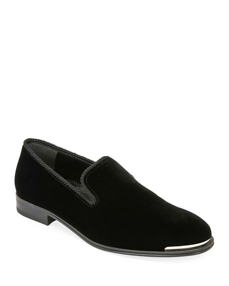 Alexander McQueen Men's Calf Suede Slip-On Dress Shoes