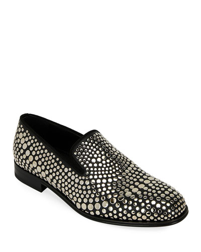 Men's Studded Leather Loafers