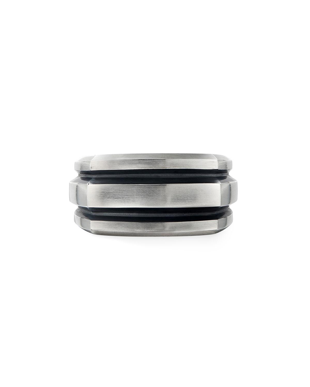 Men's 13mm Deco Cigar Band Ring